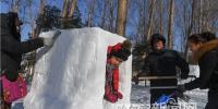 市民雪雕 玩嗨了 - 哈尔滨新闻网