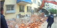 香坊拆除哈平路农林街等七处250余平方米的违建 - 新浪黑龙江