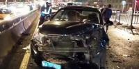 哈尔滨西大直街一轿车冲到对向连撞4车 还有1车被砸中 - 新浪黑龙江