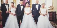 """金婚这年终于有了婚纱照""""哈市三对老夫妻实现愿望 - 新浪黑龙江"""
