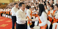 全省庆祝第三十五个教师节大会举行 张庆伟王文涛会见优秀教师代表陈海波参加 - 人民政府主办